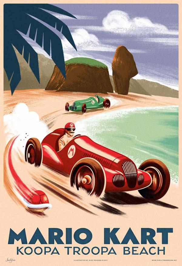 Mario Kart Grand Prix Print by Alex Pearson