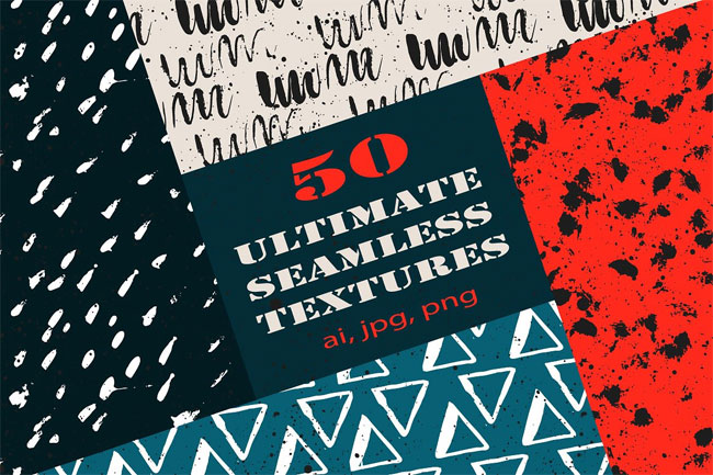 50 Ultimate Seamless Textures by Trigubova Art