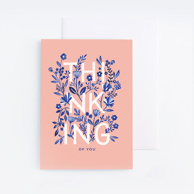 Thinking of You Card by Archer & Olive