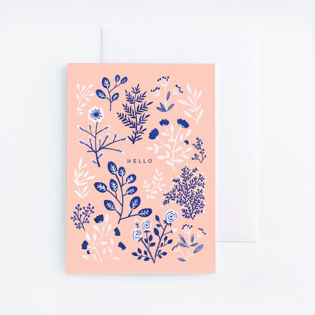 Hello Card by Archer & Olive