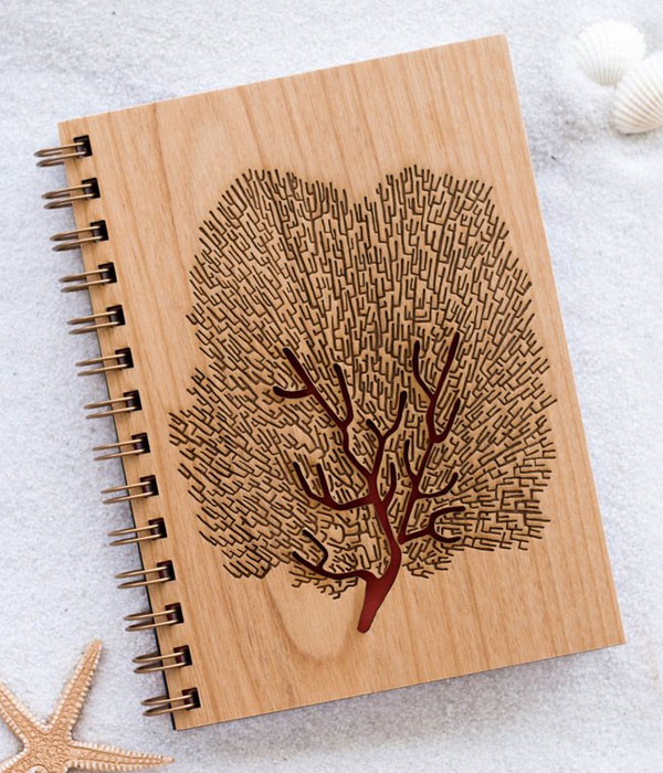 Sea Fan Wood Journal from Cardtorial
