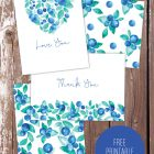 Free Printable Blueberry Cards | Paper Crave