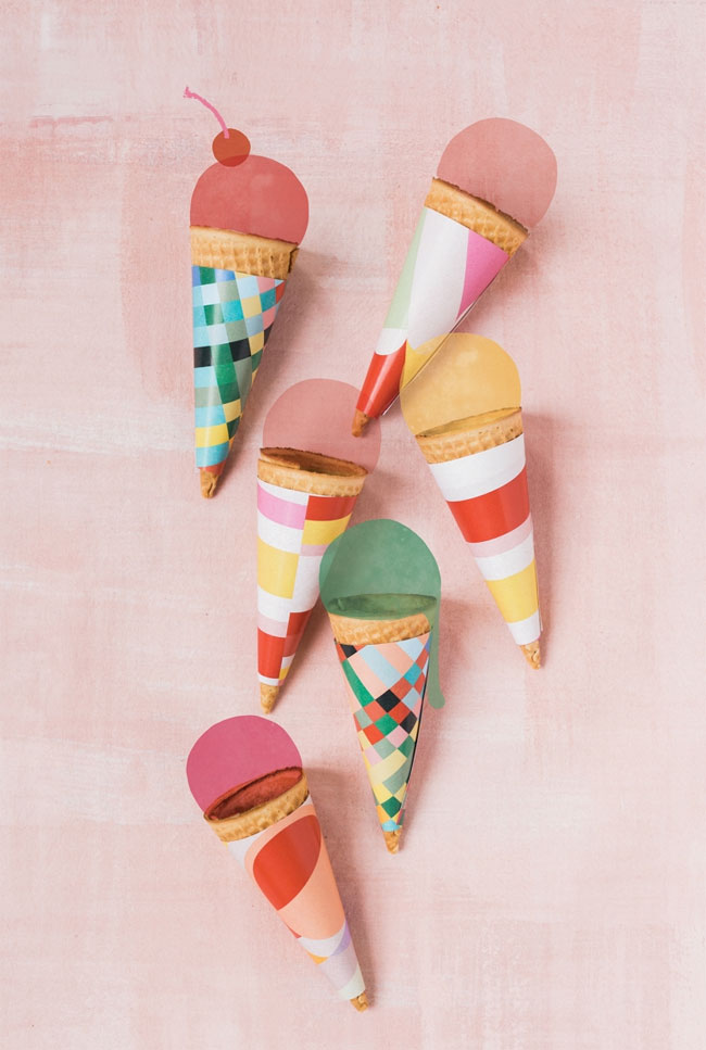 Free Printable Ice Cream Cone Wrappers | The House That Lars Built