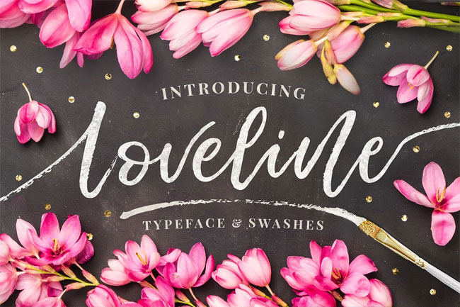 Loveline Brush Script Font by Pink Coffie