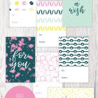 Free Printable Modern Birthday Gift Tags from Paper Crave