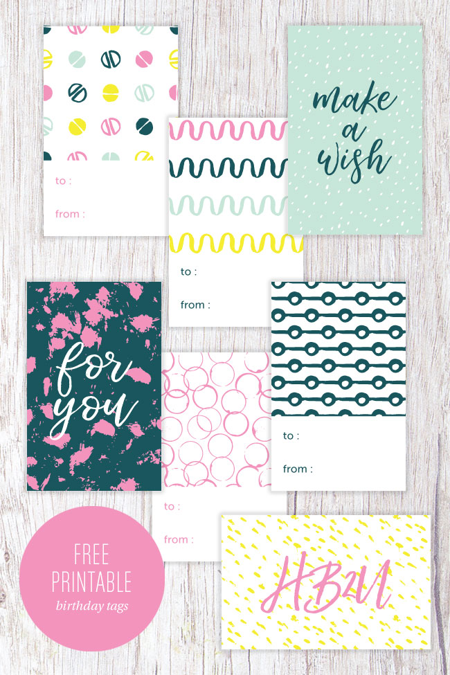 Free printable birthday gift tags paper crave free printable modern birthday gift tags from paper crave negle