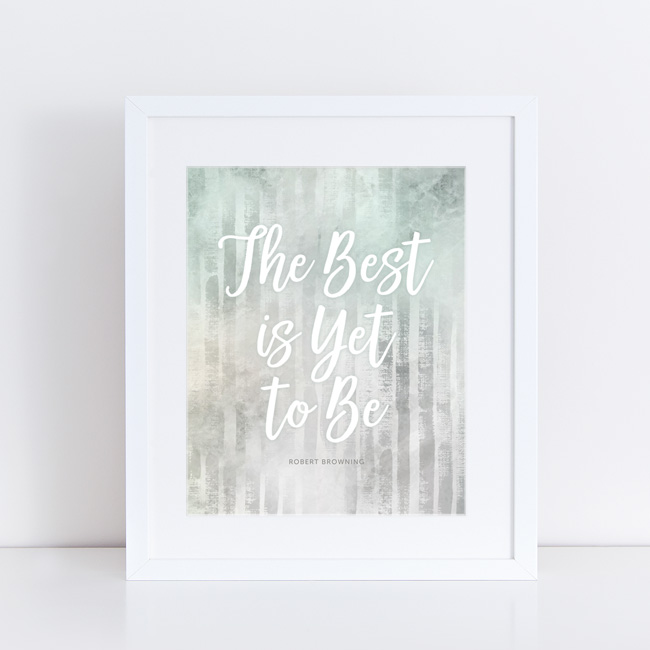 Free Printable Uplifting Quote Wall Art from Paper Crave