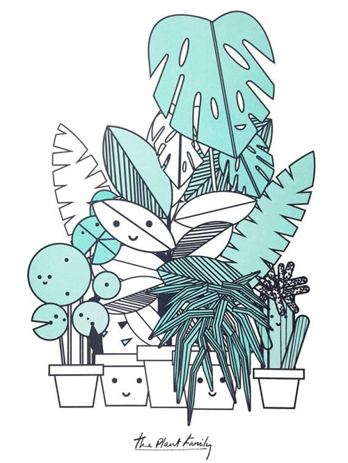 The Plant Family Art Prints from Scout Editions