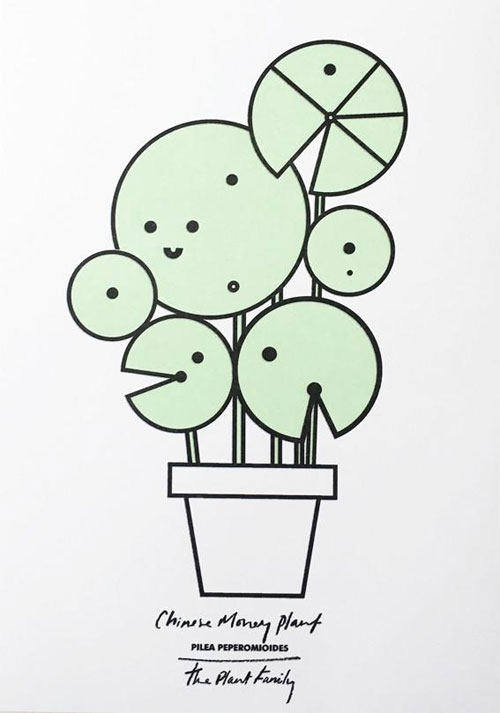 Chinese Money Plant Risograph Art Print from Scout Editions