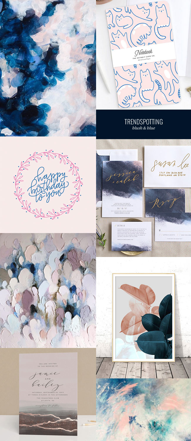 Trendspotting : Blush & Blue Color Trend
