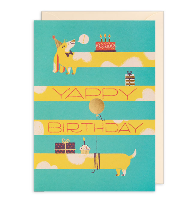 Yappy Birthday Card by Lydia Nichols for Lagom