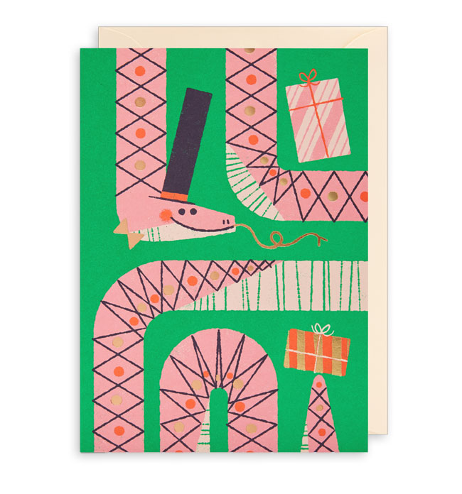 Birthday Snake Birthday Card by Lydia Nichols for Lagom
