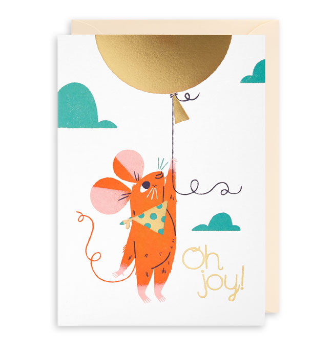 Oh Joy! Mouse Birthday Card by Lydia Nichols for Lagom