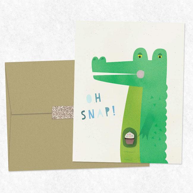Oh Snap Illustrated Birthday Card by Nocciola Design #birthdaycard