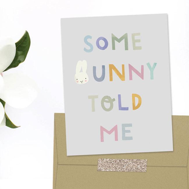 Some Bunny Birthday Card by Nocciola Design