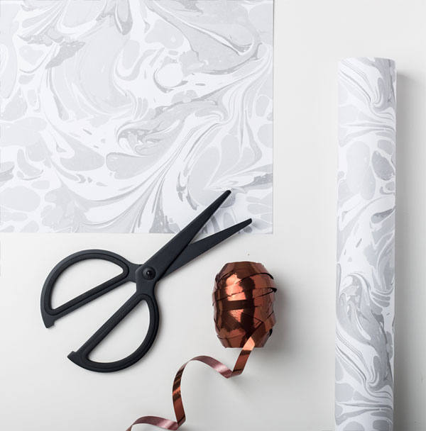 Modern Marbled Gift Wrap from Sadler Jones