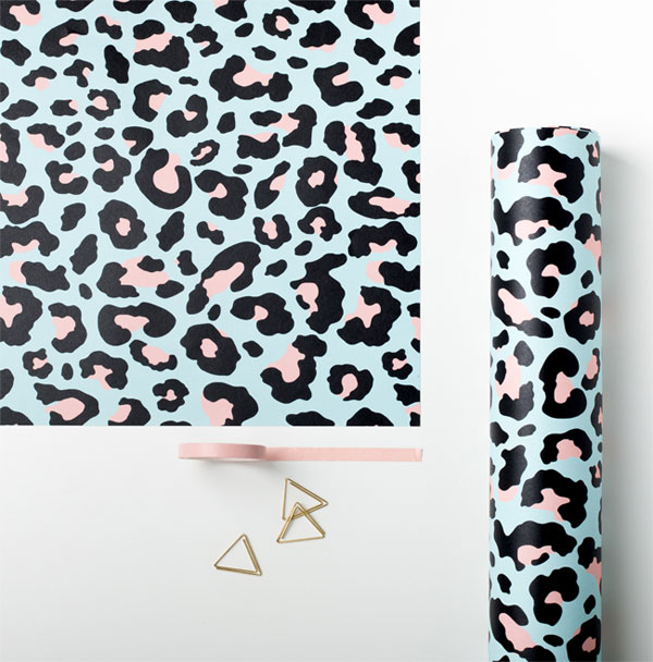 Modern Leopard Print Gift Wrap from Sadler Jones