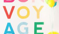 Giant Colorful Letter Banner DIY from Oh Happy Day
