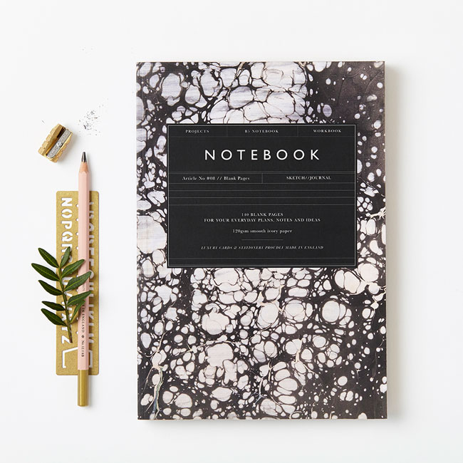 Modern Marbled Notebooks from Katie Leamon