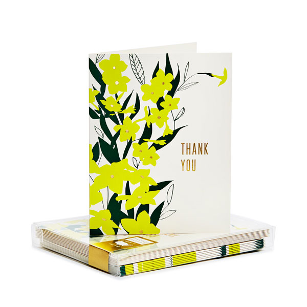 Nicotina Gold Foil Thank You Notes