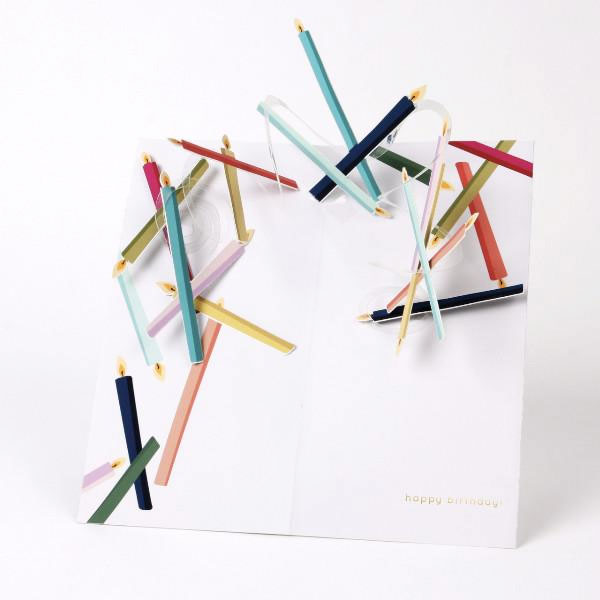 Birthday Candles Pop-Up Card from UWP Luxe