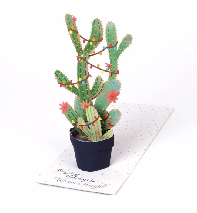 Christmas Cactus Pop-Up Card from UWP Luxe