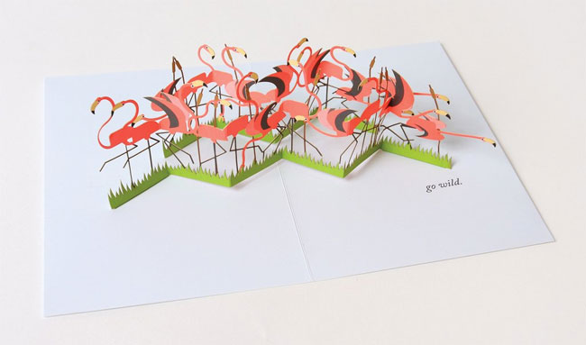 Flamingo Pop-Up Card from UWP Luxe