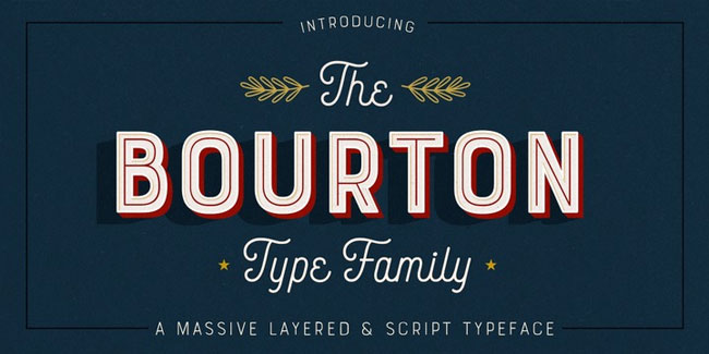 Bourton Font Family by Kimmy Design