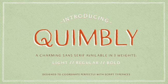 Quimbly Font by Magpie Paper Works
