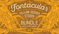 Fontacular at MyFonts Yellow Design Studio Bundle