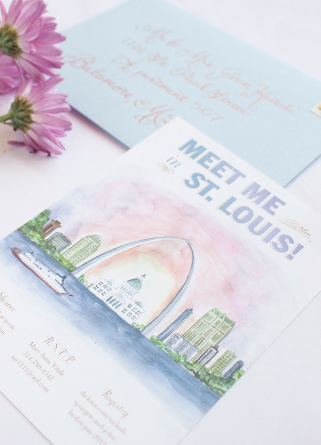 1904 World's Fair Inspired St. Louis Bridal Shower Invitations by Anne Kostecki