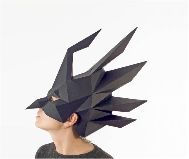 DIY Low Poly Paper Halloween Masks from Smaga Paperwood