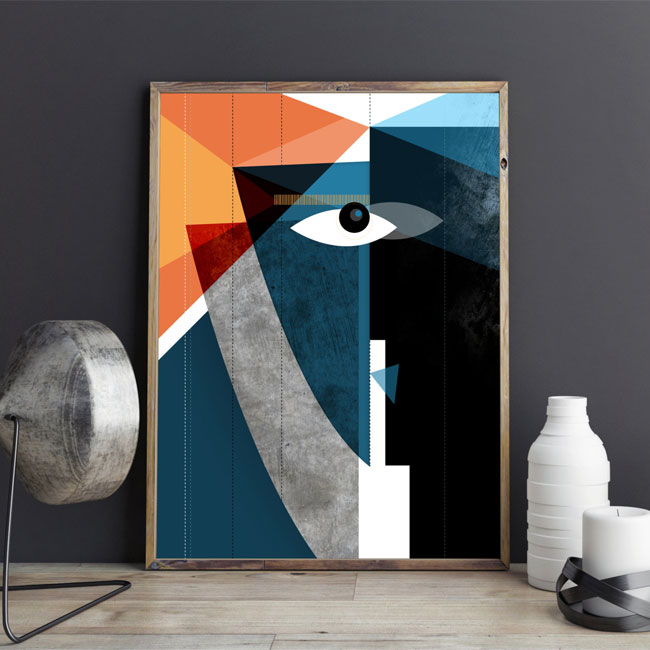 The Kiss Modern Abstract Art Print from Soul Curry