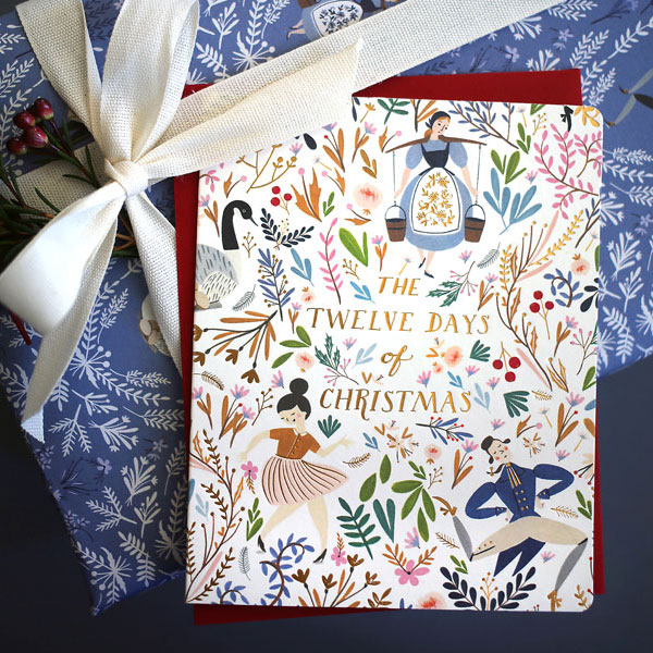 12 Days of Christmas Holiday Cards from Bespoke Press, featuring illustration by Meghann Rader