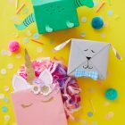 Cute Kids Animal Gift Wrap Ideas (Free Templates Included) from Think.Make.Share.