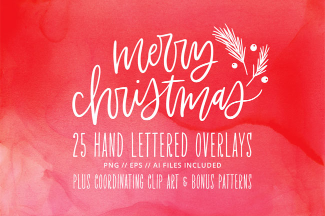http://papercrave.com/wp-content/uploads/2017/11/kbecca_christmas_overlays_hand_lettered_holiday_bonus_clipart_patterns.jpg