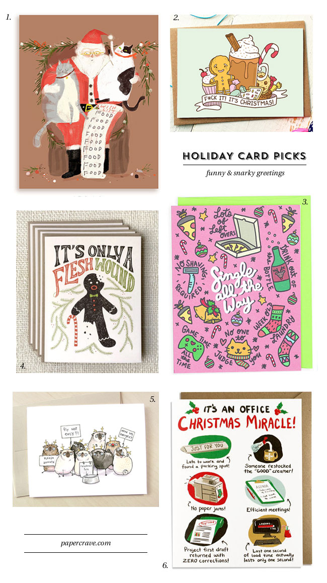 Funny, Snarky, Humorous Holiday Cards