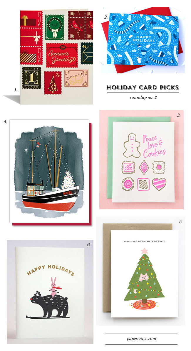 Holiday Card Picks, Roundup No. 2 from Paper Crave