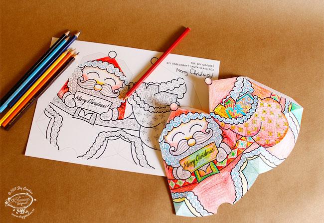 Sky Goodies Christmas Coloring Printables