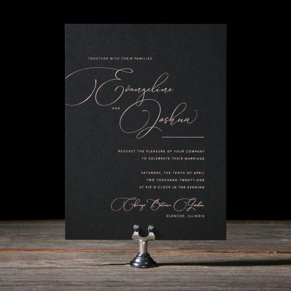 Evangeline Wedding Invitations by Kyle Laatsch for Bella Figura