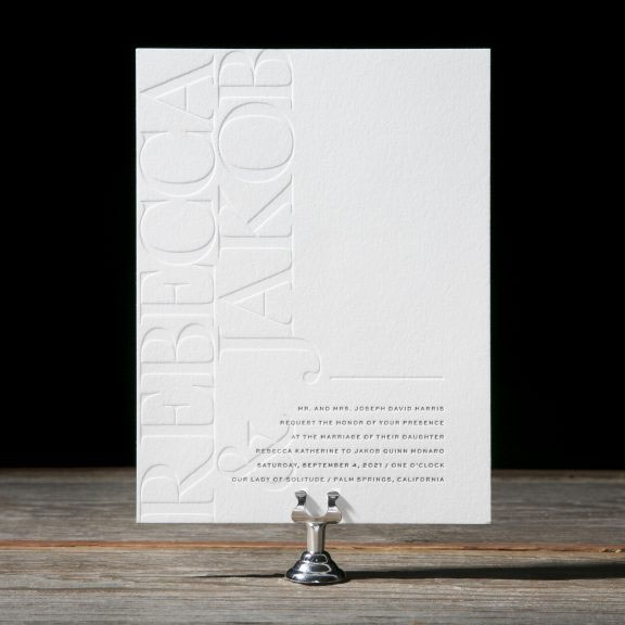 Kalino Wedding Invitations by Racheal Bumbolo for Bella Figura