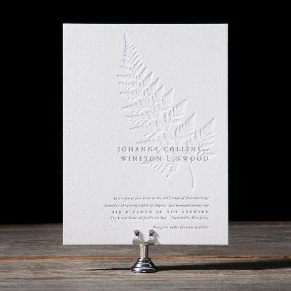 Alder Wedding Invitations by Jessica Downs for Bella Figura