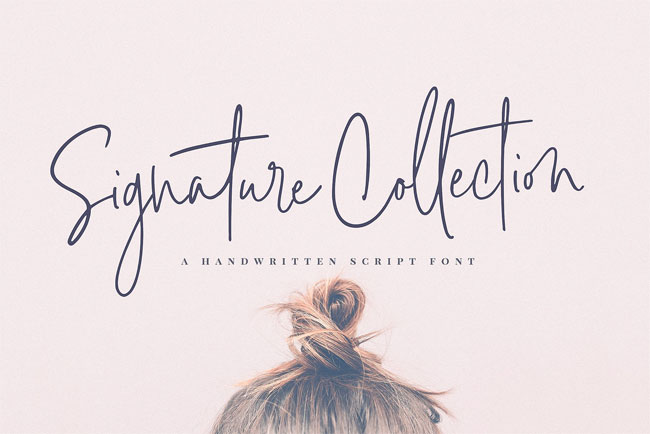 Signature Collection Font by Nicky Laatz