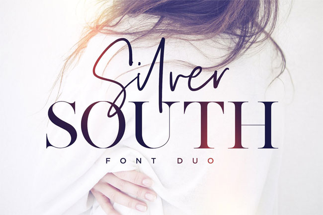 Silver South Font Duo by Sam Parrett