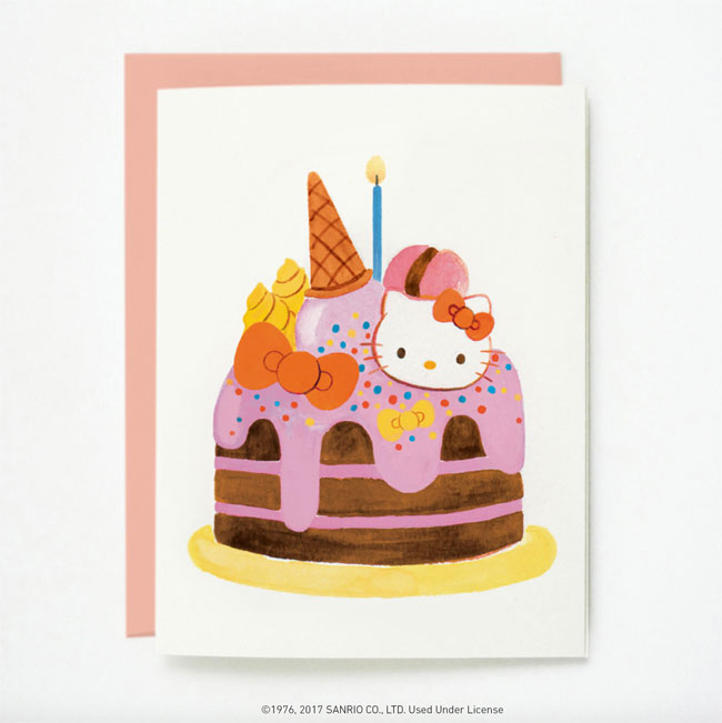 Hello Kitty + Quill & Fox Birthday Card