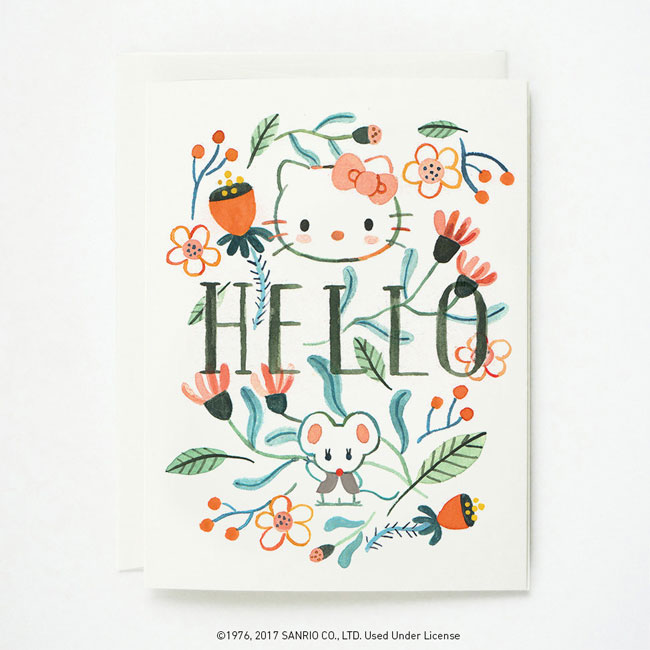 Hello Kitty + Quill & Fox Hello Card