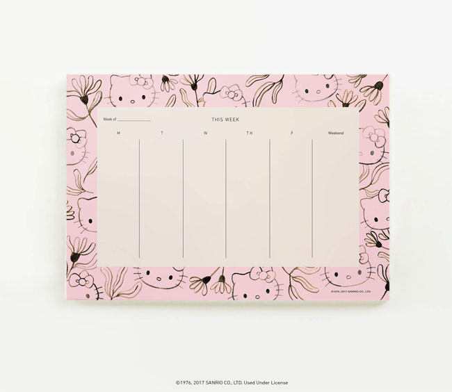 Hello Kitty + Quill & Fox Planner Pad