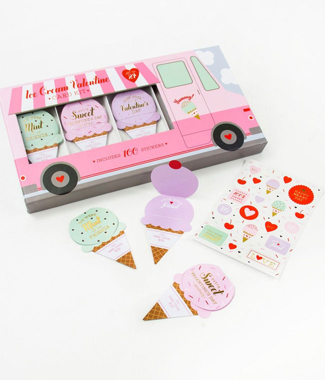 Ice Cream Truck Valentine Card Kit from Elum