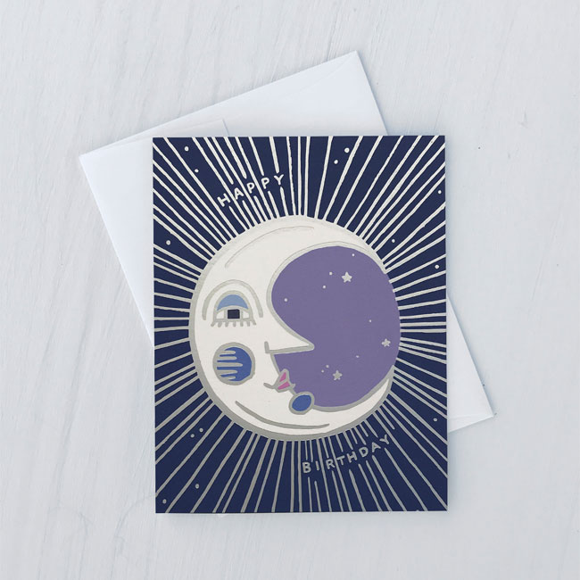 Vintage Moon Birthday Card from Idlewild Co.