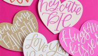 Hand Lettered Heart Valentine Cut Files from k.becca